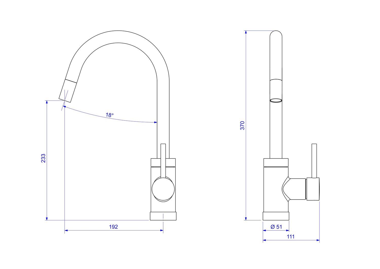 Misturador Monocomando Para Cozinha De Mesa Spin Motion Cromado 2265