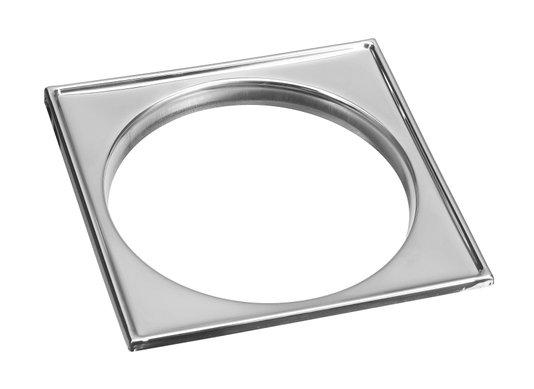 Caixilho para grelha 10 X 10 aço inox polido