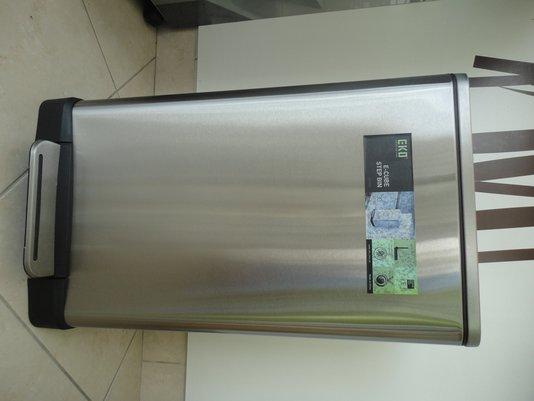 Lixeira para Cozinha 30 litros Fechamento Suave e Trava - 16383 inox escovado EKO