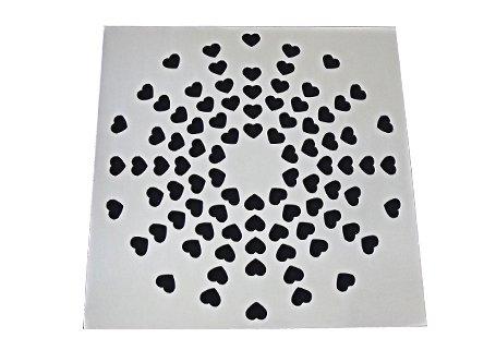 Grelha 9,4X9,4 sem Base Aço Inox Coração Invinox