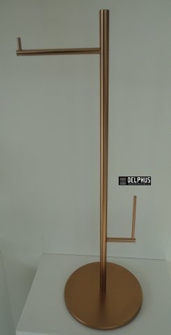 Papeleira de piso redonda com reserva vertical 2102 RV112 -  Rosso Vecchio FANI