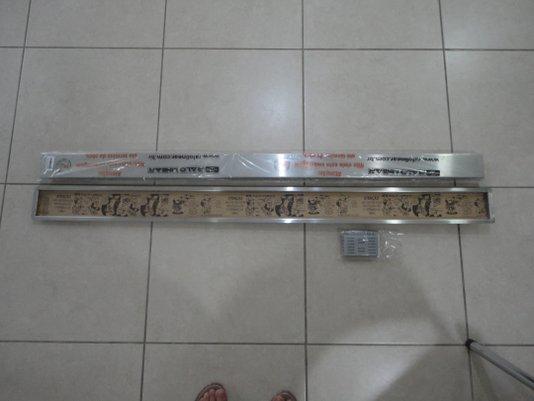 Ralo Linear Multi Master 15433 - 130cm com tampa inox e base em inox, saida lateral