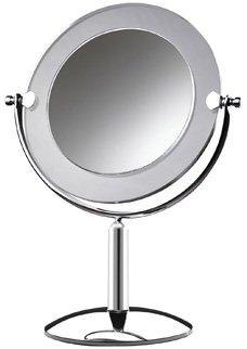 Espelho mesa 10264 Royale Cristal cromado com aro fosco Crys Bel