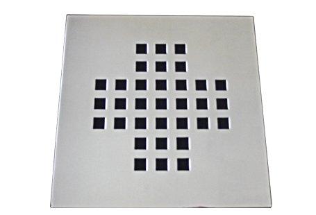 Grelha 9,4X9,4 sem Base Aço Inox Quadrado Central Invinox