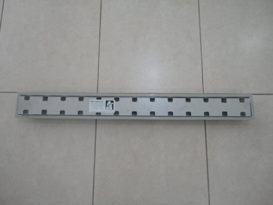 Ralo linear Royal 15332 - 100cm com tampa oculta e base polipropileno, saida central