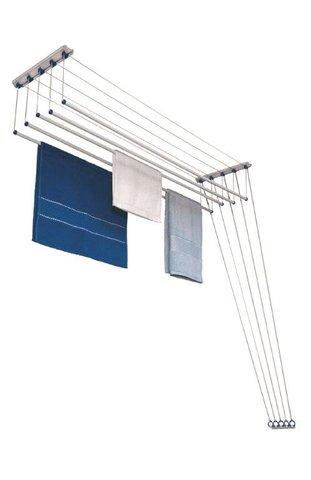Varal Innovar master teto ou parede 120cm aço com pintura em branco 7006 Maxeb