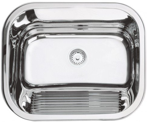 Tanque monobloco de encaixe em aço inox polido 27 litros linha Prime 94400/407 TRAMONTINA