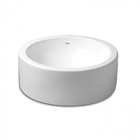 Cuba de apoio de louça com diametro de 39cm branca TERRA CELITE