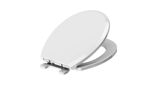 Assento Redondo Convencional soft close em Polipropileno Branco CENSI