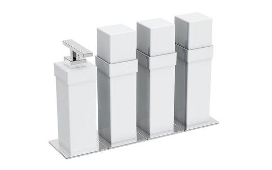 Porta objeto de parede acrilico branco com cromado BA 142/203 Spirit Zen Design