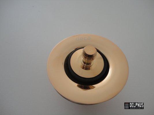 Valvula de escoamento 1602.GL para lavatório, cuba e bidê Gold Deca