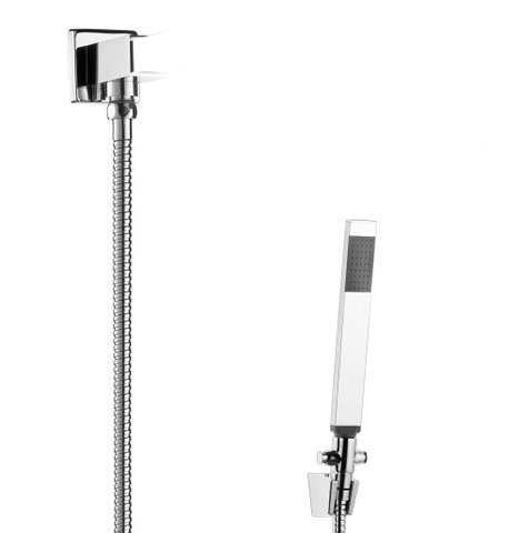 Chuveirinho Desviador ducha manual quadrada LOREN QUADRA 5205 C16 cromado LORENZETTI