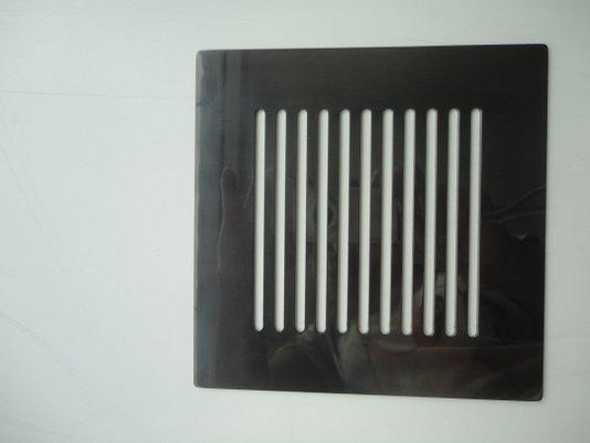 Grelha/Ralo 15X15 sem caixilho LISTRAS aço inox Black Noa