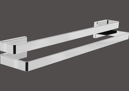 Toalheiro duplo 30cm inox polido BA137/201 Spirit Zen Design