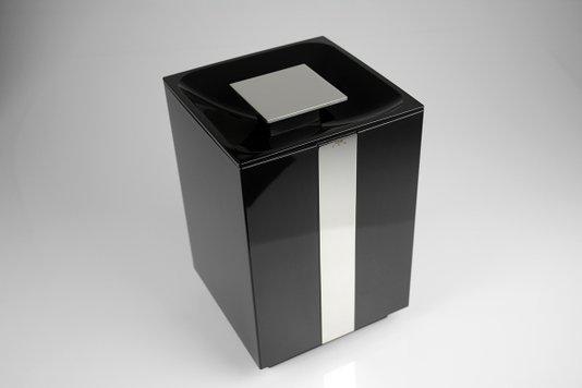 Lixeira 5 litros BA282/202  One Cr/Preto Zen Design