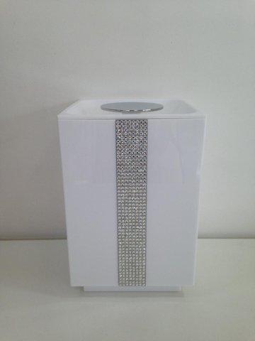 Lixeira 5 litros BA323/263 Anello Diamond/Cr/Branco Zen Design