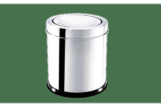 Lixeira Inox com Tampa Basculante 3,2 Litros - Decorline Lixeiras Ø 15,5 x 17 cm 3032/201 BRINOX