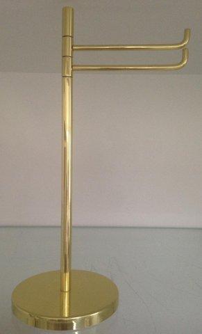 Toalheiro de bancada Dourado Base Redonda -  607 TOZZI