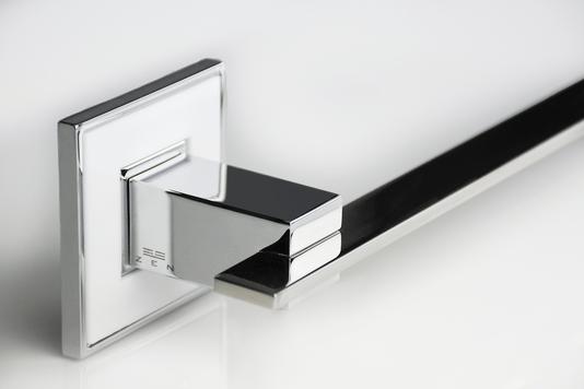Toalheiro de banho simples 35cm branco/cromo/polido Jazz BA 038.223 Zen Design