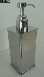 Saboneteira Liquida Quadrada para bancada/mesa - 2135 aço inox polido