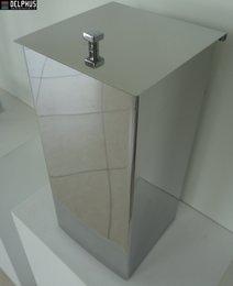 Lixeira Quadrada com Tampa Articulável - 2562 Aço Inox Polido