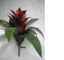 Flor Bromélia Vermelha em plástico 7151 - CABBAGE