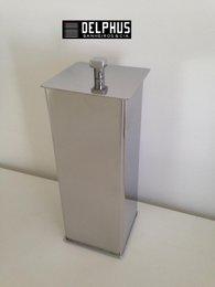 Porta Escova Dental Quadrado 2187 em Aço Inox Polido
