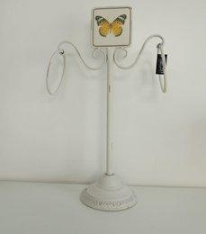 Toalheiro de bancada Rustico - 4334 com Desenho BORBOLETA