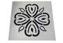 Grelha 9,4X9,4 sem Base Aço Inox Flor Invinox