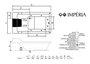 Banheira Imperia 180x85x53 acrílica 6/6 plus com travesseiro e alça Mondialle