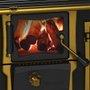 Fogão a lenha esmaltado preto Imperador Vitreo n°2 Venax